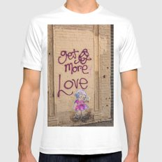 More Love in Brooklyn Mens Fitted Tee MEDIUM White