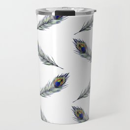 The Peacock's Feather Pattern Travel Mug