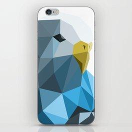 Geometric blue parakeet iPhone Skin