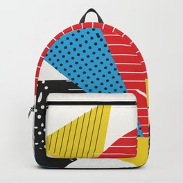 Memphis Sun Abstract Throwback Retro 1980s 80s Trendy Hipster Pattern Eighties Backpack