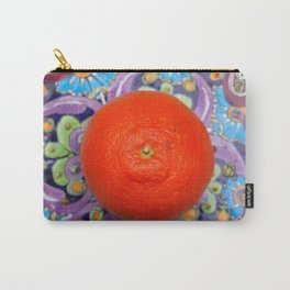 tangerine on a plate Carry-All Pouch