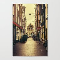 amsterdam Canvas Prints featuring Amsterdam by Pati Designs