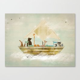 sky sailers Canvas Print