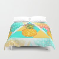 pineapples Duvet Covers featuring Pineapples by Ornaart