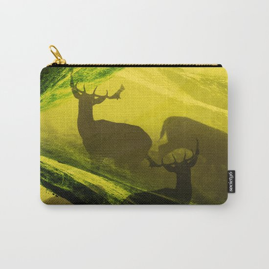 Oh Deer Complex Green Carry-All Pouch