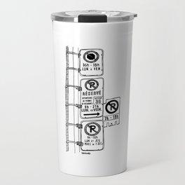 Montréal - Parking Hell - Black Travel Mug