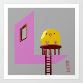 Little Chick ovo Art Print