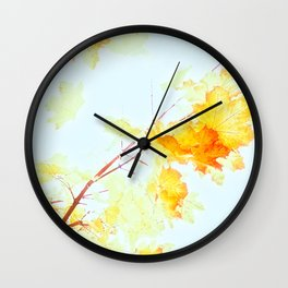 Yellow Maple leaves, Autumn Unfolds Wall Clock