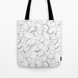 ginkgo leaves (white) Tote Bag