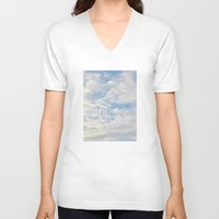 clouds V-neck T-shirts featuring Clouds by lillianhibiscus
