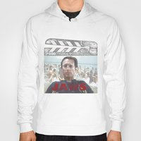 jaws Hoodies featuring Jaws by Alan