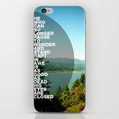 Stand Rapt in Awe iPhone & iPod Skin