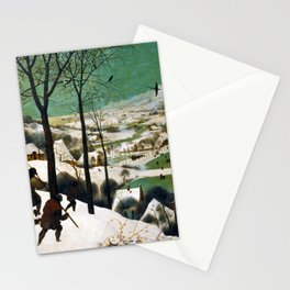 The Hunters in the Snow (winter) by Pieter Bruegel the Elder (1565) Stationery Cards