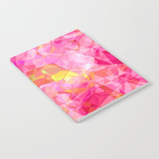 Rose triangles I - Modern abstract pink pattern Notebook