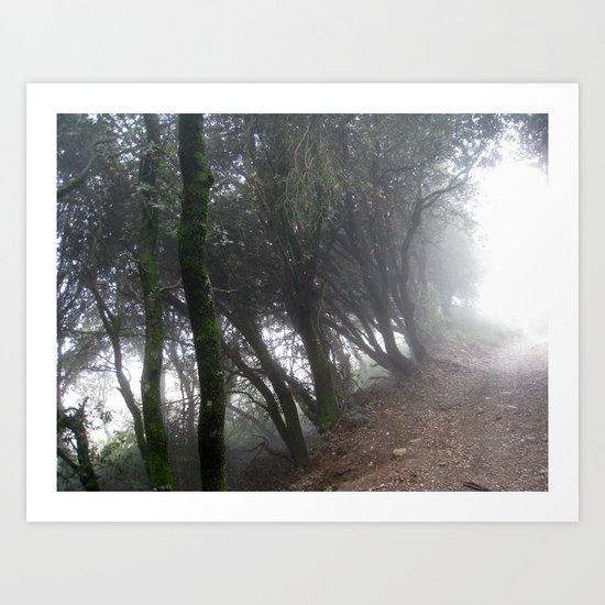 La niebla va subiendo Art Print