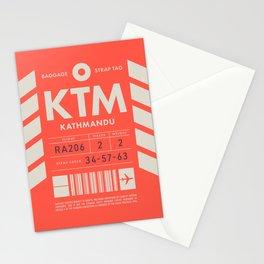 Baggage Tag D - KTM Kathmandu Tribhuvan Nepal Stationery Cards