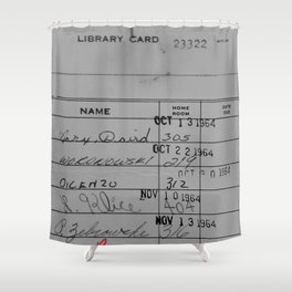 Library Card 23322 Gray Shower Curtain