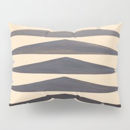 Gray Geometric Triangle Pattern With Black Accent Pillow Sham