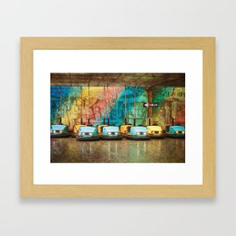 Bumper Cars Framed Art Print