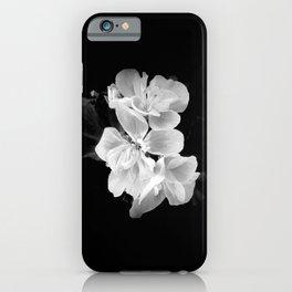 geranium in bw iPhone Case