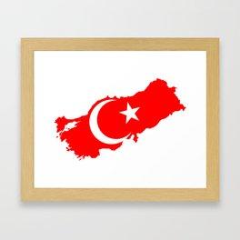 Turk Bayragi Framed Art Print