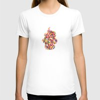 sprinkles T-shirts featuring Sprinkles Cupcake by Lines Across