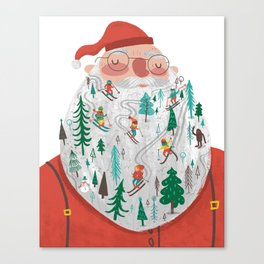 Snowy Santa Beard Canvas Print