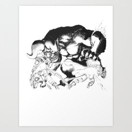Guts & Griffith vs Zodd Art Print