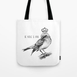 Bird and Quote by Magda Opoka | Animals | Painting | Illustration Tote Bag