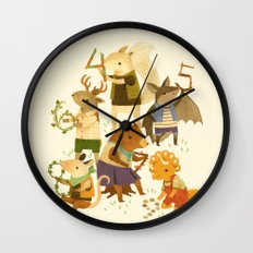 The Counting Crew Wall Clock