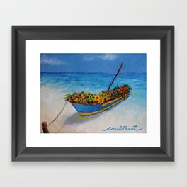 """Fishing Colorful Dreams-1"" Framed Art Print"