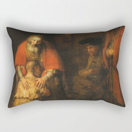 Rembrandt - Return Of The Prodigal Son Rectangular Pillow