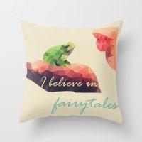 fairy tale Throw Pillows featuring Fairy tale by Rhena Wanders