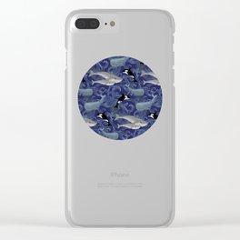 Beautiful Ocean Giants - purple Clear iPhone Case