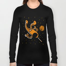 cosmonaut in space Long Sleeve T-shirt