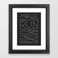 Run for the Hills Framed Art Print