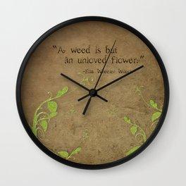 Weeds, Unloved Flowers Wall Clock