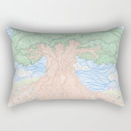 Roots and Leaves Rectangular Pillow