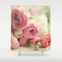 notebook Shower Curtains featuring the first bouquet by Sylvia Cook Photography