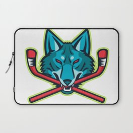 Coyote Ice Hockey Sports Mascot Laptop Sleeve