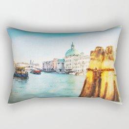 The Pier of Venice watercolor Rectangular Pillow