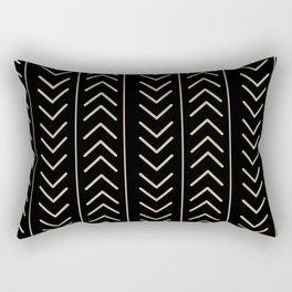 Mudcloth Black Rectangular Pillow