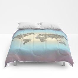 It's a Big 'ol World 2 - Pointilist Art Comforters