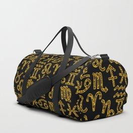 Zodiac signs background. Horoscope symbols. Astrology Duffle Bag