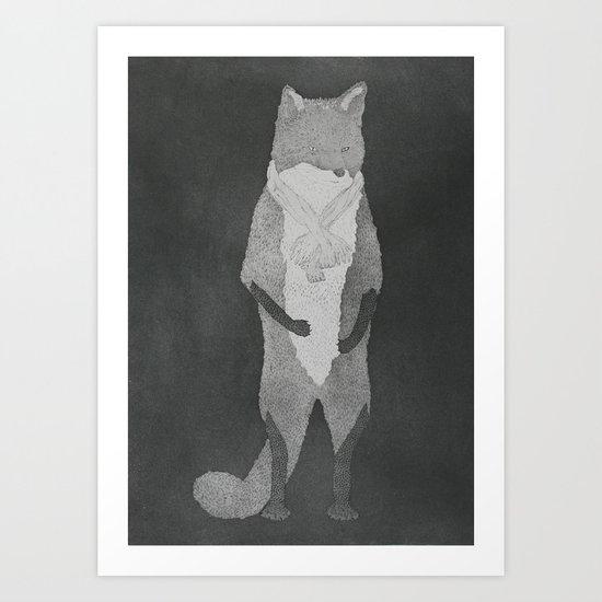 Fox Fur Art Print