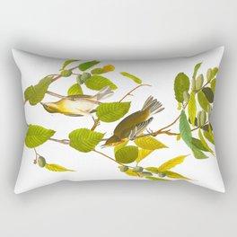 Autumnal Warbler Bird Rectangular Pillow