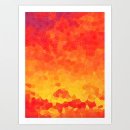 Mosaic Lake of Fire Art Print