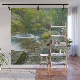 Natural pools in mountain river Wall Mural