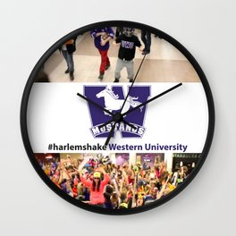 University of Western #harlemshake  Wall Clock