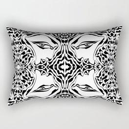 A Glance of Temptation Rectangular Pillow